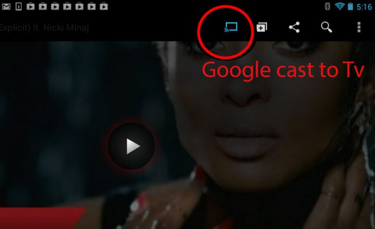 cast youtube from smartphone to smart tv