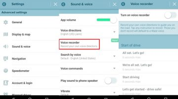waze record your own voice for turn by turn