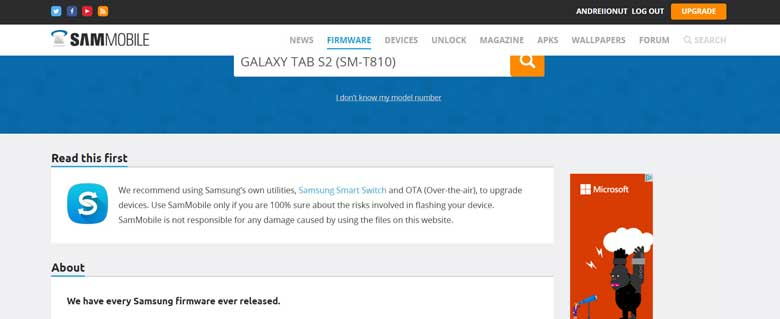 samsung original firmware download