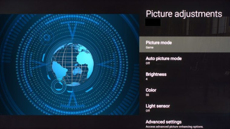 Sony TV x900e picture settings