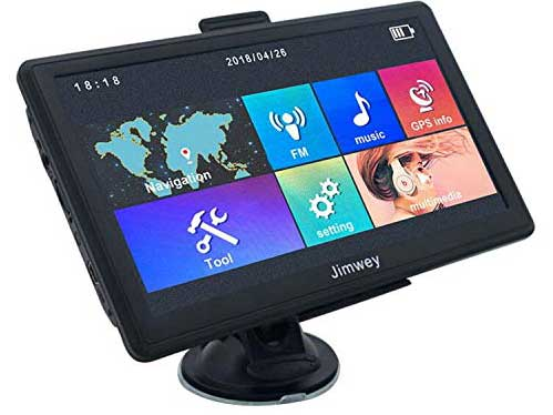 Jimwey 7 inch 8GB 256MB GPS Navigation System with 2018 Maps